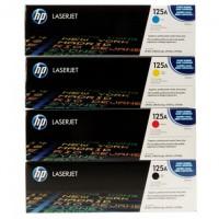 HP CB540A(黑) / CB541A(藍) / CB542A(黃) / CB543A(紅) 原廠碳粉匣 四色一組