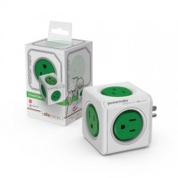 PowerCube 魔術方塊擴充插座(綠色) 5插座3孔